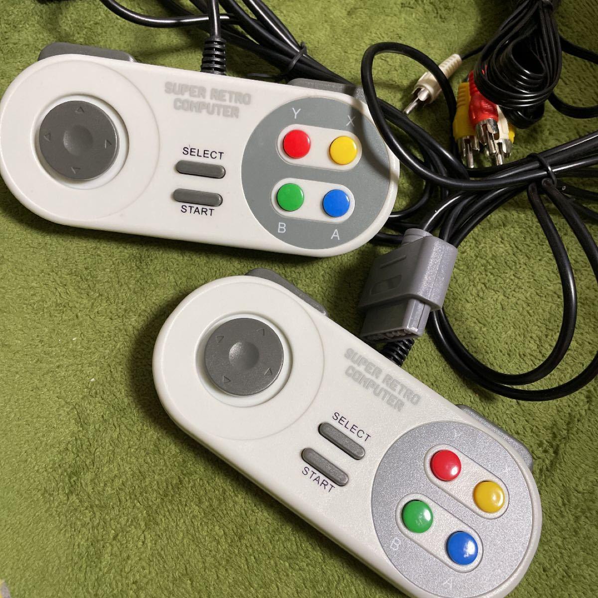 スーパーファミコン互換ゲーム機  カセット ソフト付き