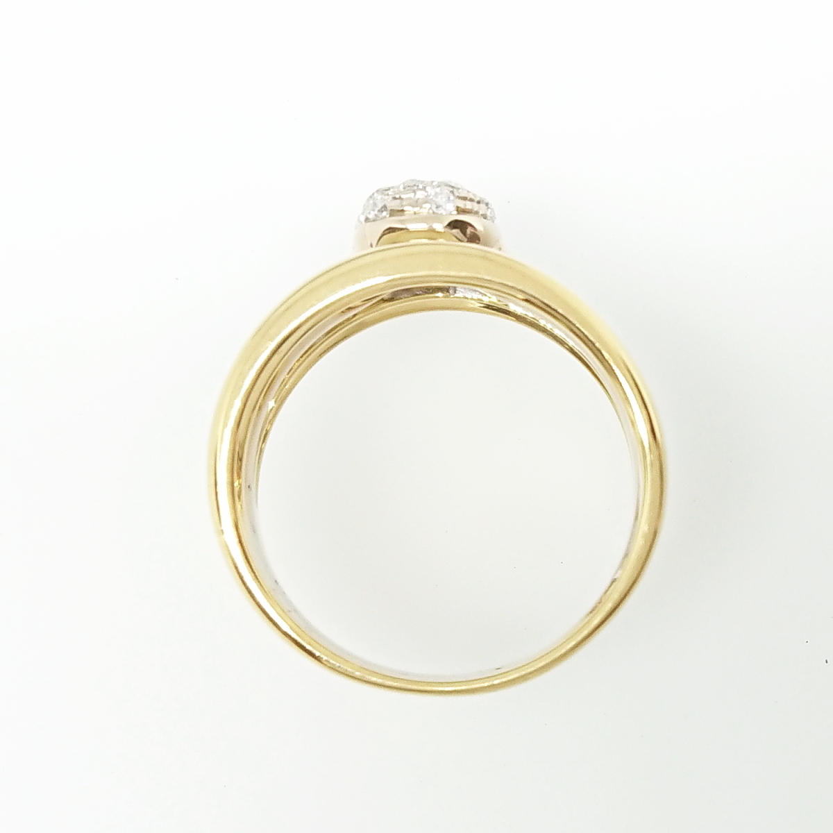 【送料無料】ポンテヴェキオ Ponte Vecchio 750YG/WG ダイヤモンド0.13ctリング 11号★新品仕上げ済★_画像5