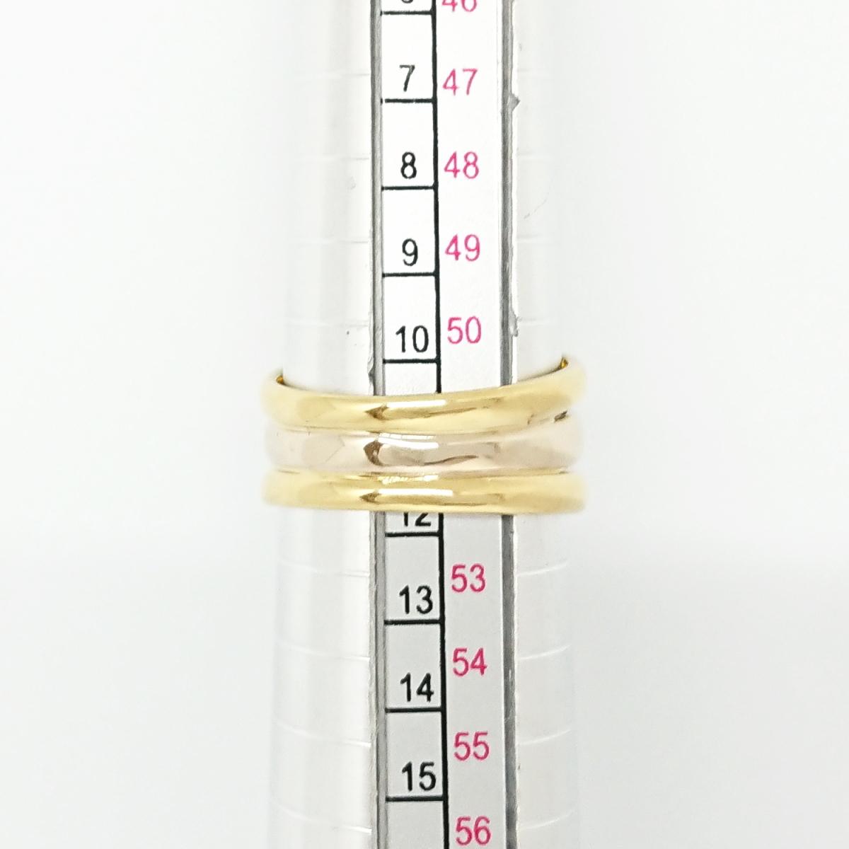 【送料無料】ポンテヴェキオ Ponte Vecchio 750YG/WG ダイヤモンド0.13ctリング 11号★新品仕上げ済★_画像8