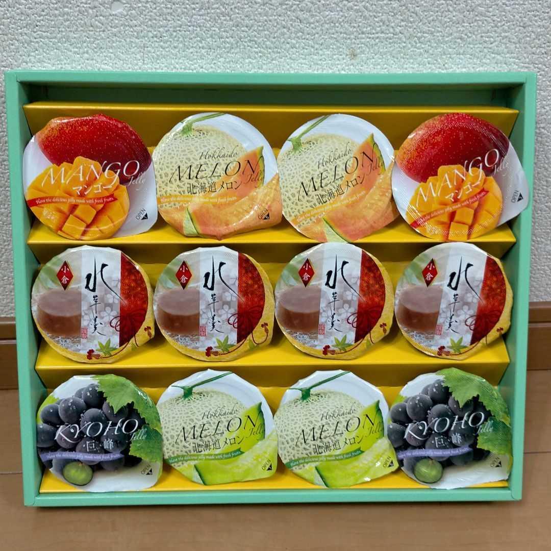 金澤兼六製菓ゼリー・水羊羹12個詰め合わせ_画像1