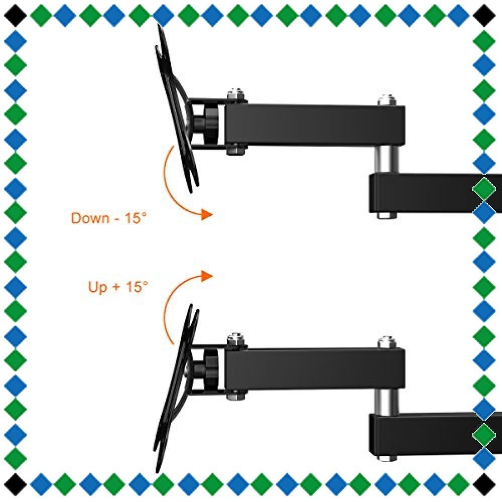 新品・テレビ壁掛け金具 上下左右角度調節 アーム式 Himino 14-27インチLCD LED OLED液晶テレビ対応 左右移動式 _画像4