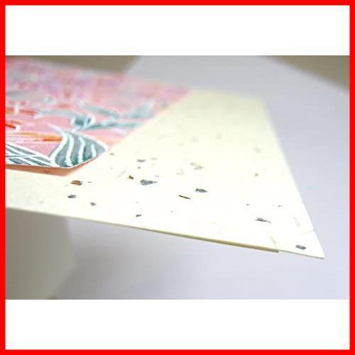 【送料無料-激安】 ★サイズ名:赤色系5セット★ グリーティングカード 限定】和紙かわ澄 【.co.jp G0832 柄いろいろ 友禅和紙 5セット_画像3