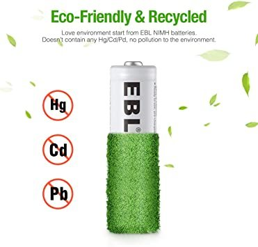 単4電池 EBL 単4電池 充電式電池 1100mAhニッケル水素充電式電池、収納ケース付き8パック 単四電池 充電池_画像8