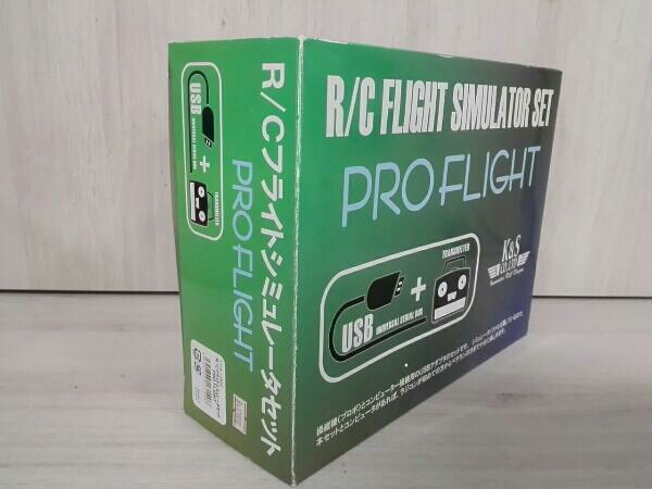 K&S CO.,LTD R/C FLIGHT SIMULATOR SET PRO FIGHT ※動作未確認_画像4