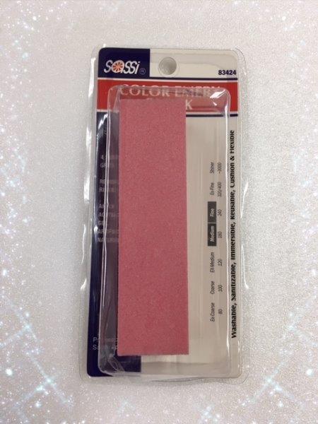 つけ爪用 ファイル 爪やすり 180/240 ピンク ネイルケア ネイルファイル ブロックタイプ ジェル ネイル アート ツメ jel-021pk_画像1