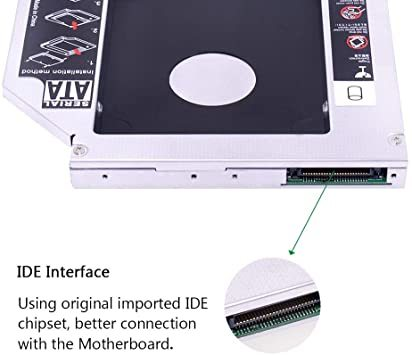 YQZ 9.5mmセカンドHDDキャディトレイアダプター ハードディスクマウンタ汎用 ノートPC光学ドライブをHDDやSSDに置_画像4