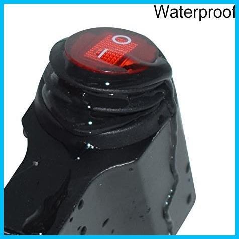 ヘッドライトフォグスポットライトON/OFFスイッチ 防水 12V 22mmハンドルバーオートバイ用_画像4