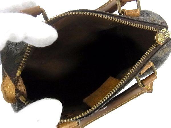 1円 LOUIS VUITTON ルイヴィトン M41534 モノグラム ミニスピーディー ハンドバック ミニボストン ポーチ レディース ブラウン系 S0130Wh_画像5