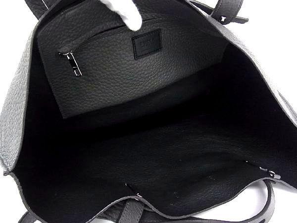 1円 ■美品■ FURLA フルラ レザー シルバー金具 ハンドバッグ トートバッグ ショルダー 肩掛けかばん レディース ダークグレー系 S1114bM_画像8