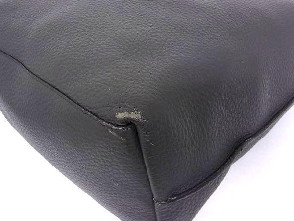 1円 ■美品■ FURLA フルラ レザー シルバー金具 ハンドバッグ トートバッグ ショルダー 肩掛けかばん レディース ダークグレー系 S1114bM_画像7