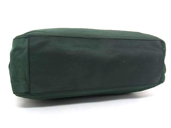 1円 PRADA プラダ テスートナイロン シルバー金具 トートバッグ ハンドバッグ 手提げかばん レディース グリーン系 R0465QN_画像5