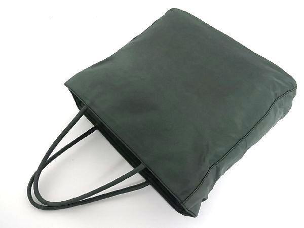 1円 PRADA プラダ テスートナイロン シルバー金具 トートバッグ ハンドバッグ 手提げかばん レディース グリーン系 R0465QN_画像4