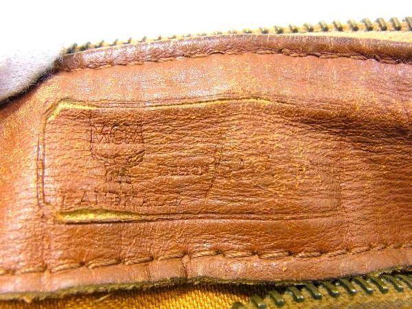 1円 MCM エムシーエム モノグラム ヴィセトス柄 レザー ゴールド金具 ミニボストン ハンドバッグ 手提げかばん ブラウン系 S2207BN_画像10
