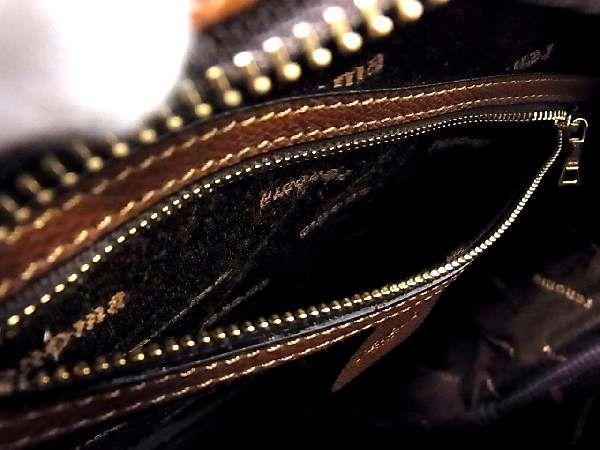 1円 ■極美品■ renoma レノマ レザー ゴールド金具 ハンドバッグ トートバッグ 手提げかばん レディース ブラウン系 S1991Jオ_画像9