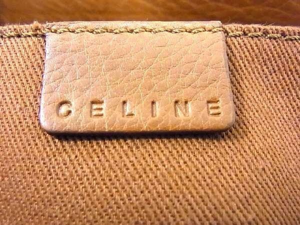 1円 ■美品■ CELINE セリーヌ ブギーバック レザー シルバー金具 ハンドバッグ トートバッグ 手持ちかばん 手提げ ブラウン系 Q4093アN_画像10