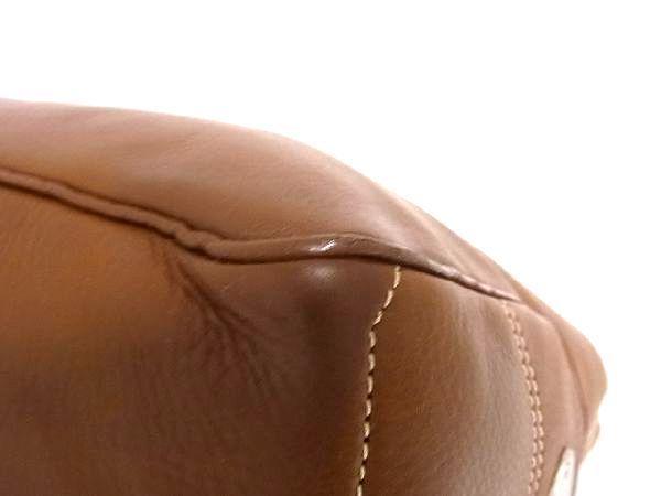 1円 ■美品■ CELINE セリーヌ ブギーバック レザー シルバー金具 ハンドバッグ トートバッグ 手持ちかばん 手提げ ブラウン系 Q4093アN_画像7