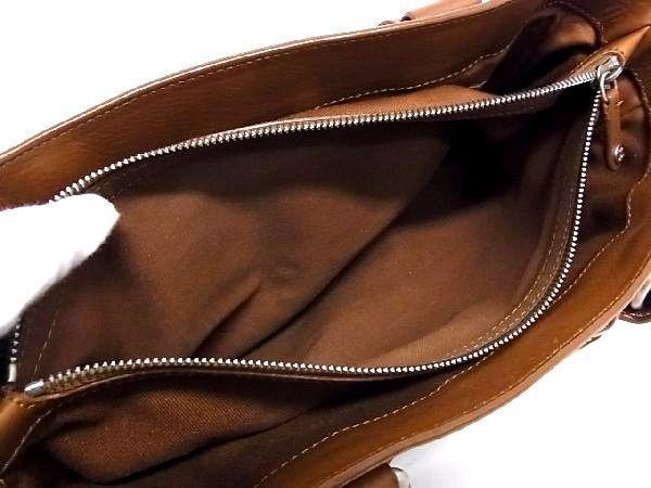 1円 ■美品■ CELINE セリーヌ ブギーバック レザー シルバー金具 ハンドバッグ トートバッグ 手持ちかばん 手提げ ブラウン系 Q4093アN_画像9