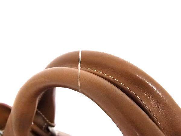 1円 ■美品■ CELINE セリーヌ ブギーバック レザー シルバー金具 ハンドバッグ トートバッグ 手持ちかばん 手提げ ブラウン系 Q4093アN_画像6