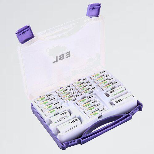 新品 好評 単3電池12本(2800mAh)+単4電池8本(1100mAh)充電式ニッケル水素電池 EBL充電池パック 5-G8_画像1