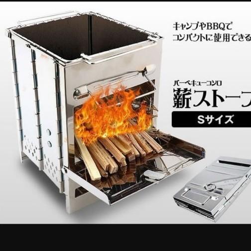 小型バーベキューコンロ 薪ストーブ ソロキャンプ アウトドア グリル BBQ