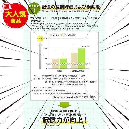 30食 (x 1) DHC イチョウ葉 脳内α(アルファ)30日分 【機能性表示食品】_画像4