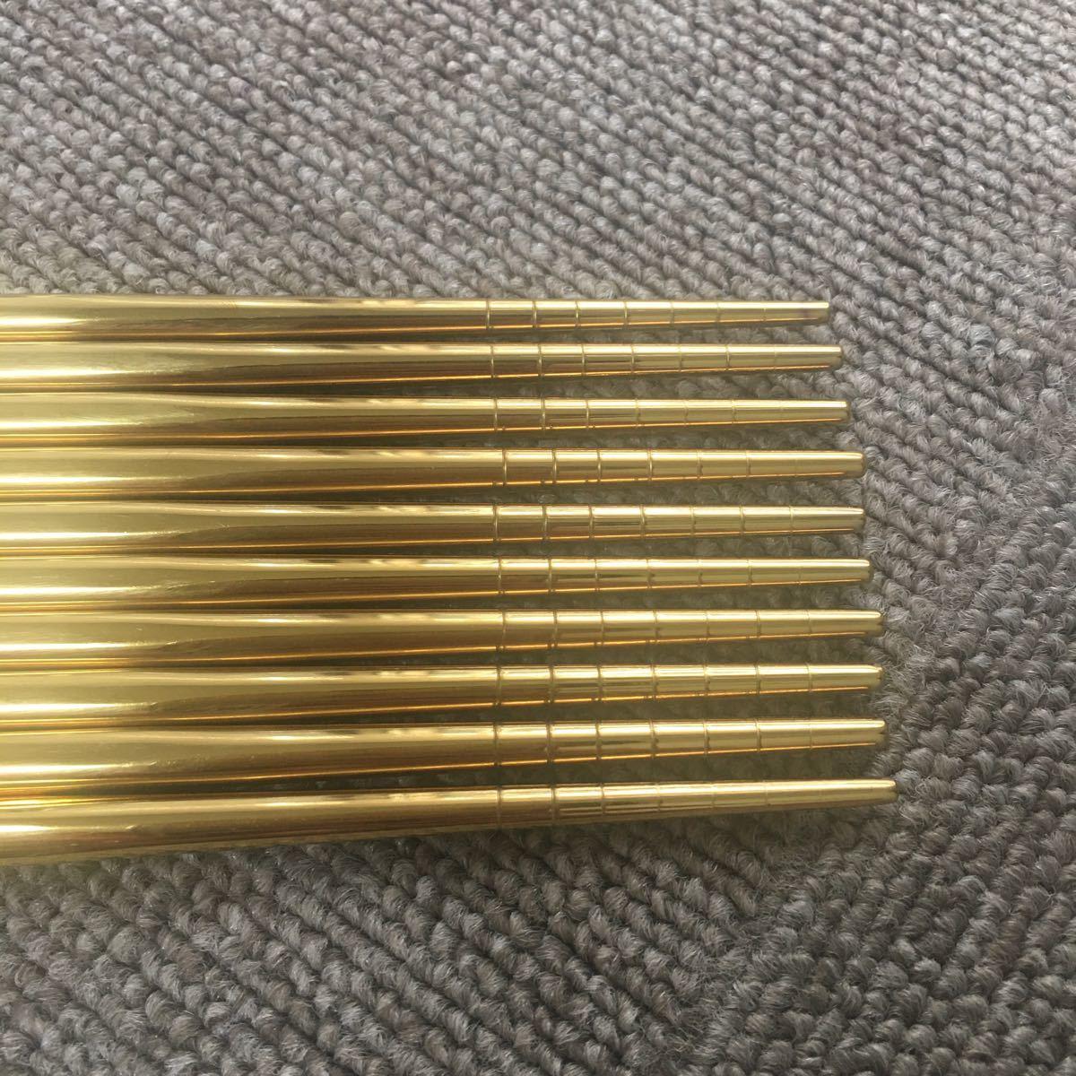 箸 ゴールドはし オシャレなカトラリーセット!北欧風 スプーン フォーク ナイフ クチポール風 箸 ステンレス ゴールド シルバー