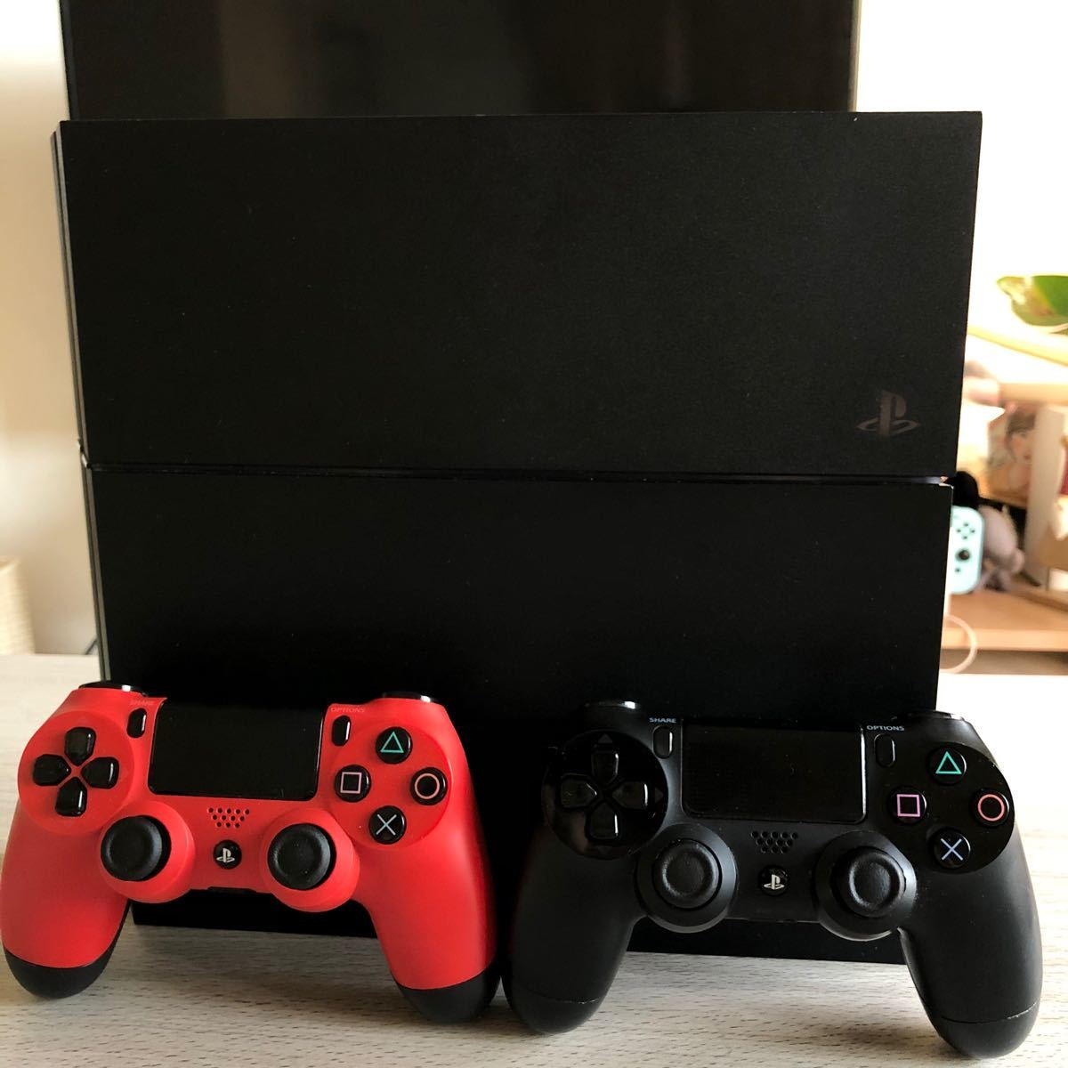 PlayStation ps4 本体 500GB コントローラー×2 配線セット 初期化済み