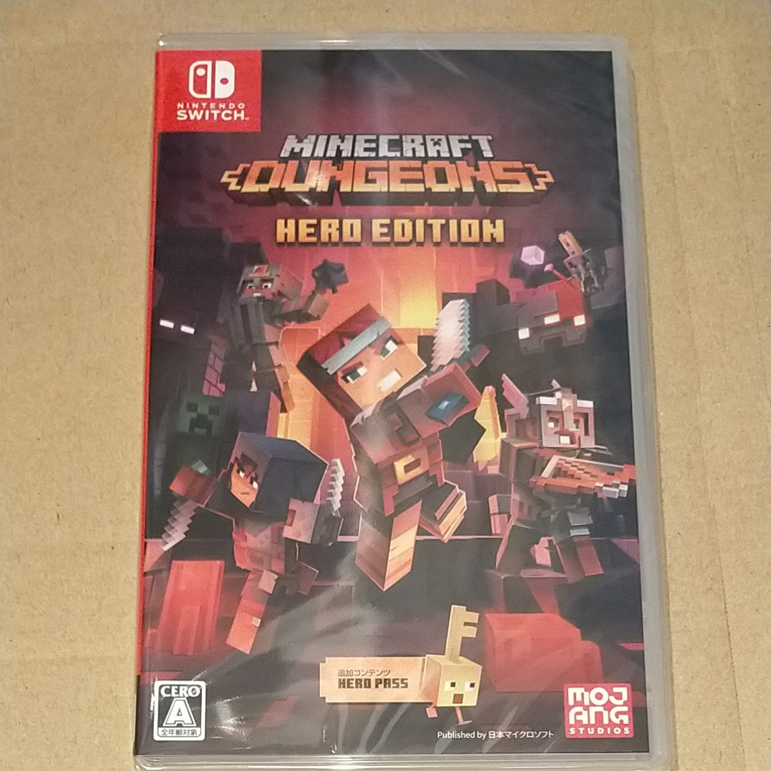 新品未開封◆ Minecraft Dungeons Hero Edition マインクラフト Nintendo Switch