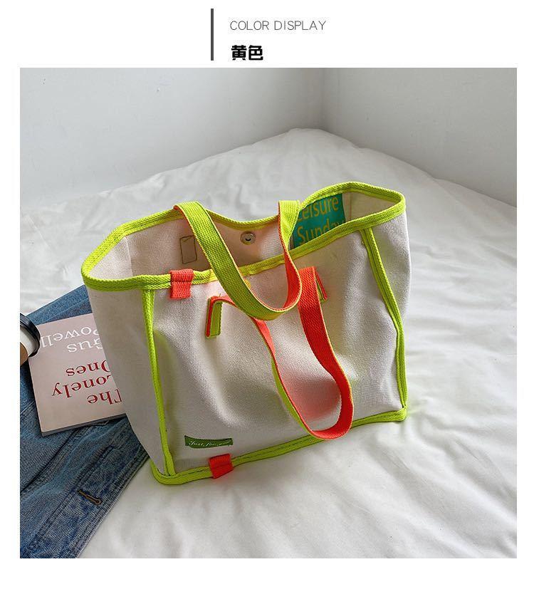 トートバッグ レディース カジュアル 韓流 デザイナー ハンドバッグ 大容量 ショルダーバッグ キャンバス ショッピングバッグ