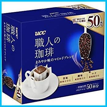 【在庫限りのお値引きです】 ドリップコーヒー まろやか味のマイルドブレンド 職人の珈琲 50杯 UCC 350g_画像1