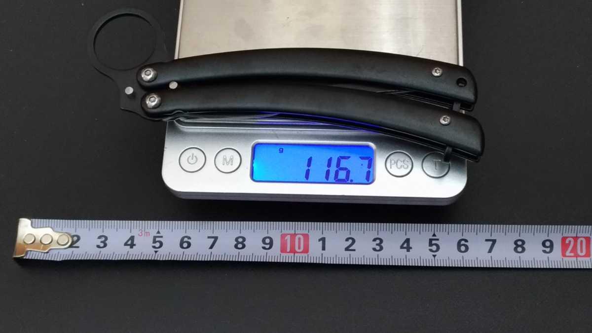 Y1066 バタフライナイフ フォールディングナイフ 折りたたみ  包丁 フィッシング テント タープ 焚き火 薪 料理