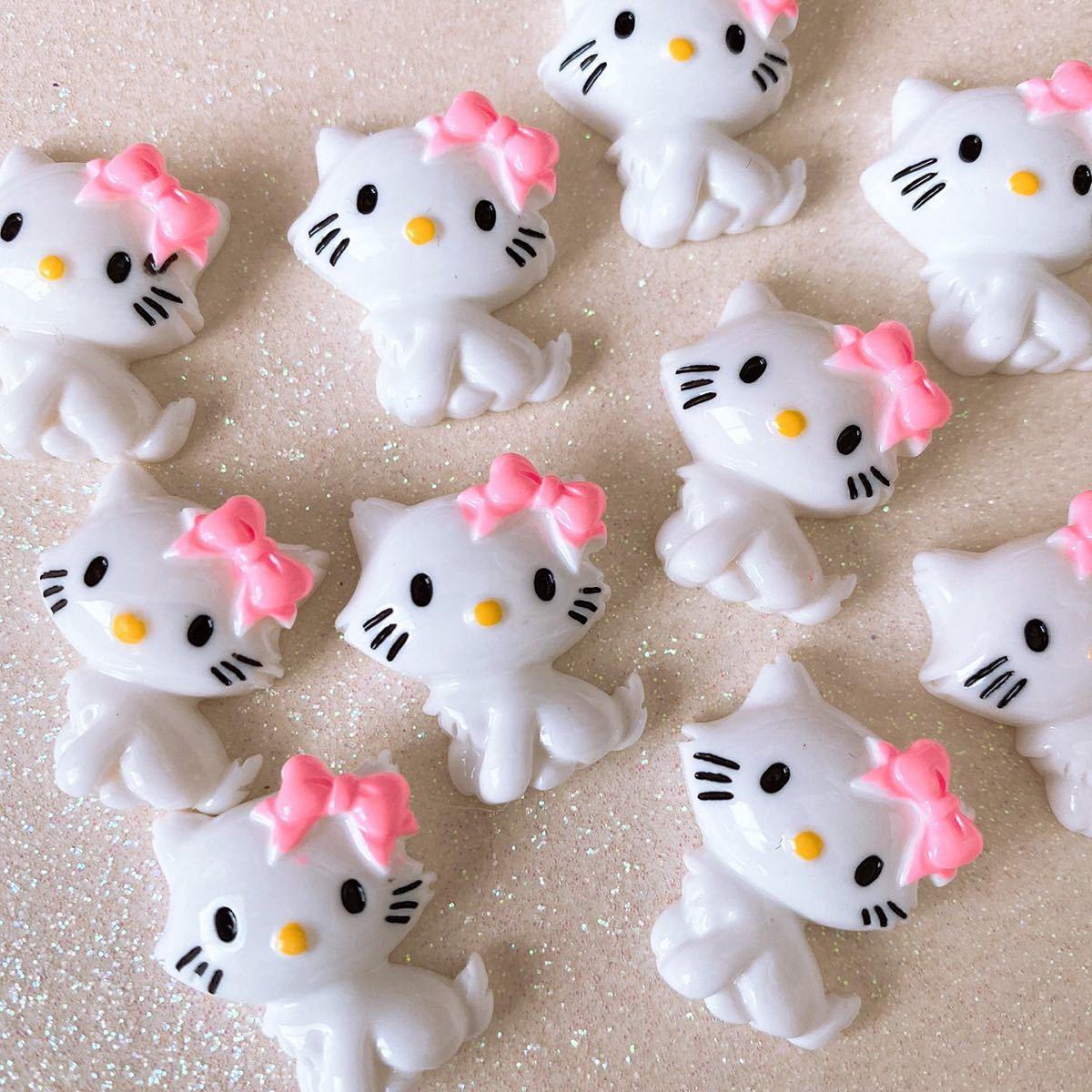 デコパーツ 猫デコパーツ10個セット 数量限定 まとめ売り キャラパーツ