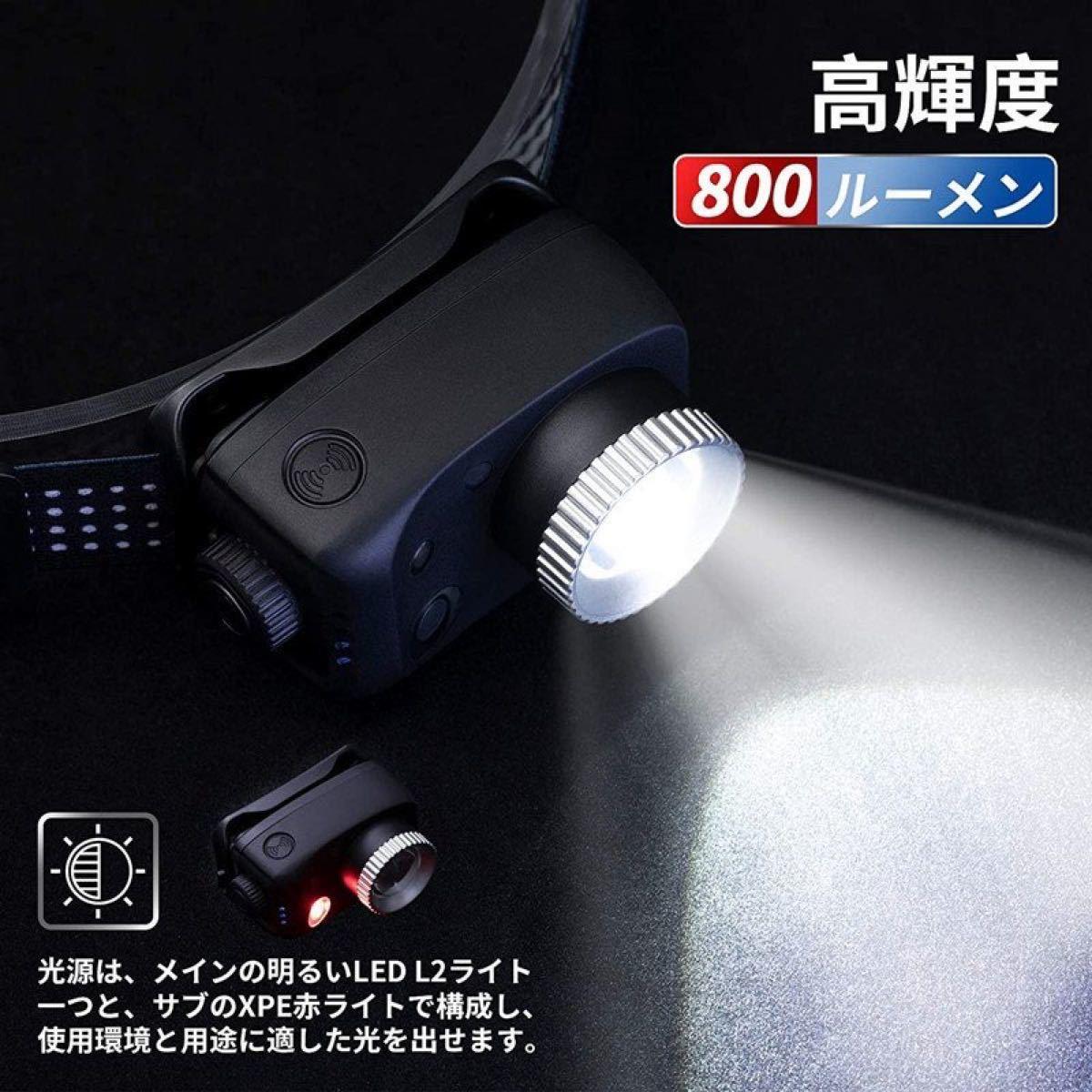 ヘッドライト LEDヘッドランプ led ヘッド ライト 充電式 強力発光 明るい 作業用 軽量 キャンプ 登山 アウトドア