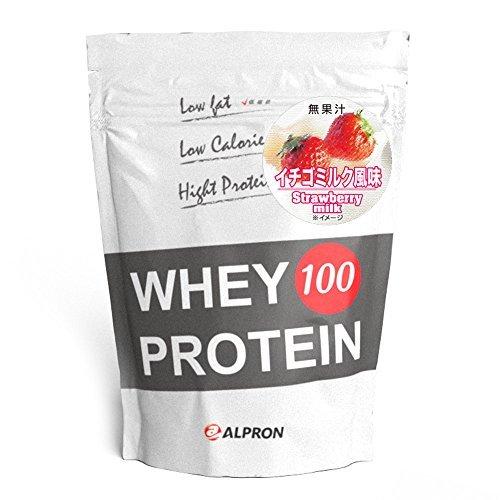 1kg ALPRON(アルプロン) ホエイプロテイン100 イチゴミルク風味 (1kg) タンパク質 ダイエット 粉末ドリンク _画像1