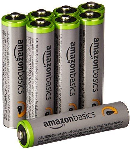 Amazonベーシック 充電池 高容量充電式ニッケル水素電池単4形8個セット (充電済み、最小容量 800mAh、約500回使用_画像5