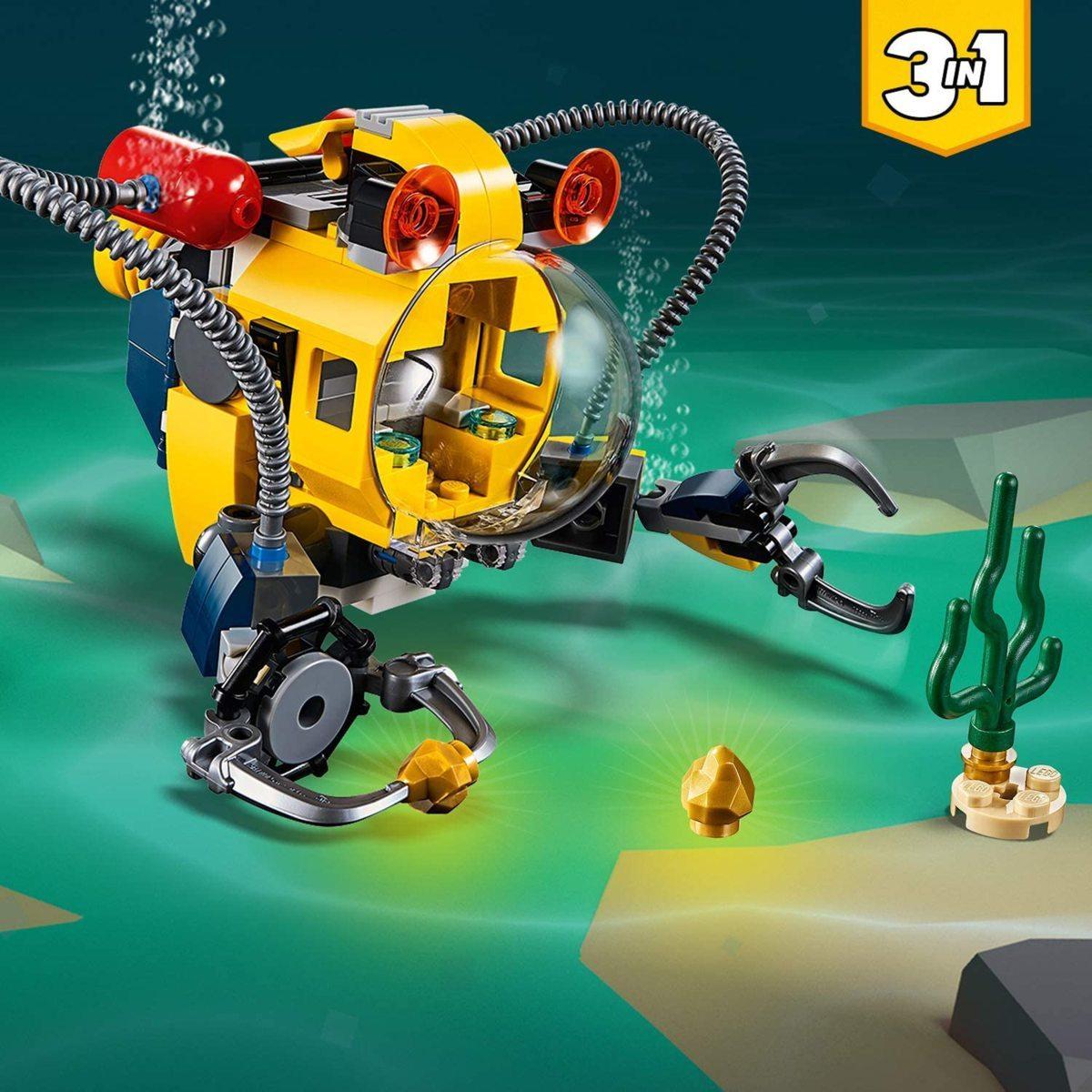 レゴ(LEGO) クリエイター 海底調査ロボット 31090 知育玩具 ブロック おもちゃ 女の子 男の子_画像4