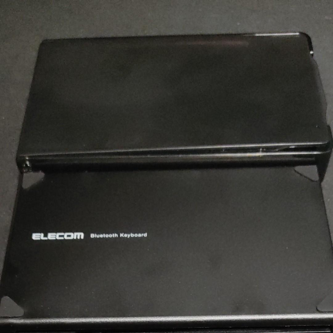 Bluetoothキーボード ワイヤレスキーボード 折りたたみキーボード ELECOM TK- FLP01 PBK