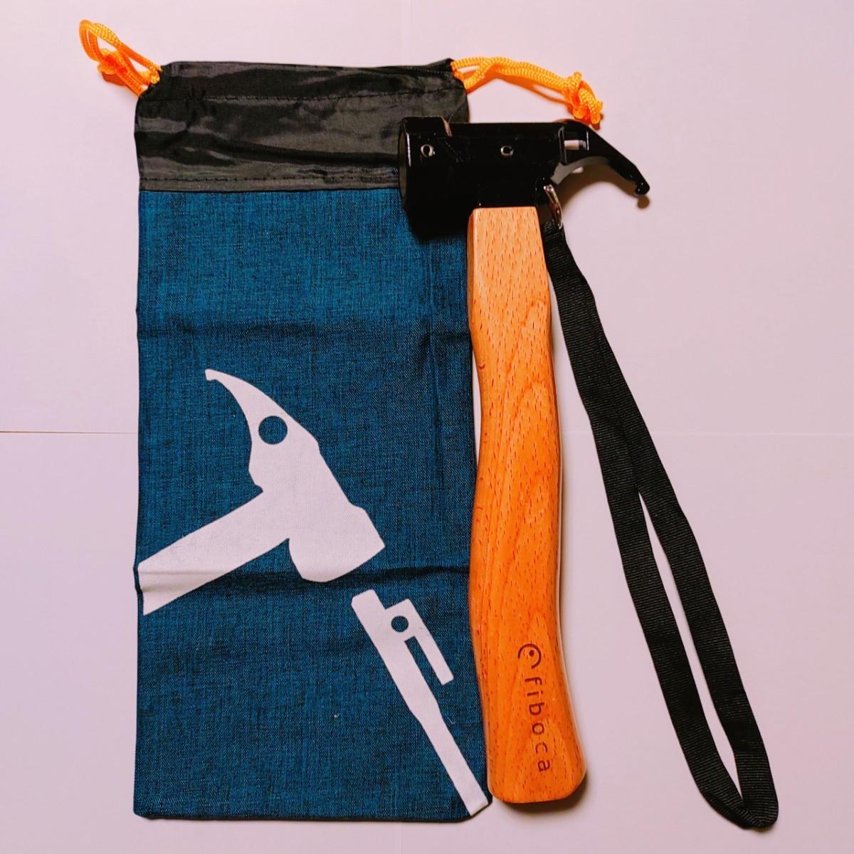 テントハンマー ペグハンマー アウトドア キャンプ 真鍮ヘッド 高品質収納袋 安全ベルト ペグ 収納袋 木製