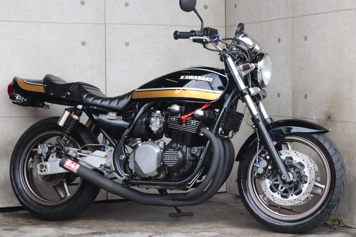 「横浜~ Kawasaki ゼファー750 平成3年式 初期型C1 Z2ブラックタイガー ドレミ外装 ニューペイント 好調」の画像1