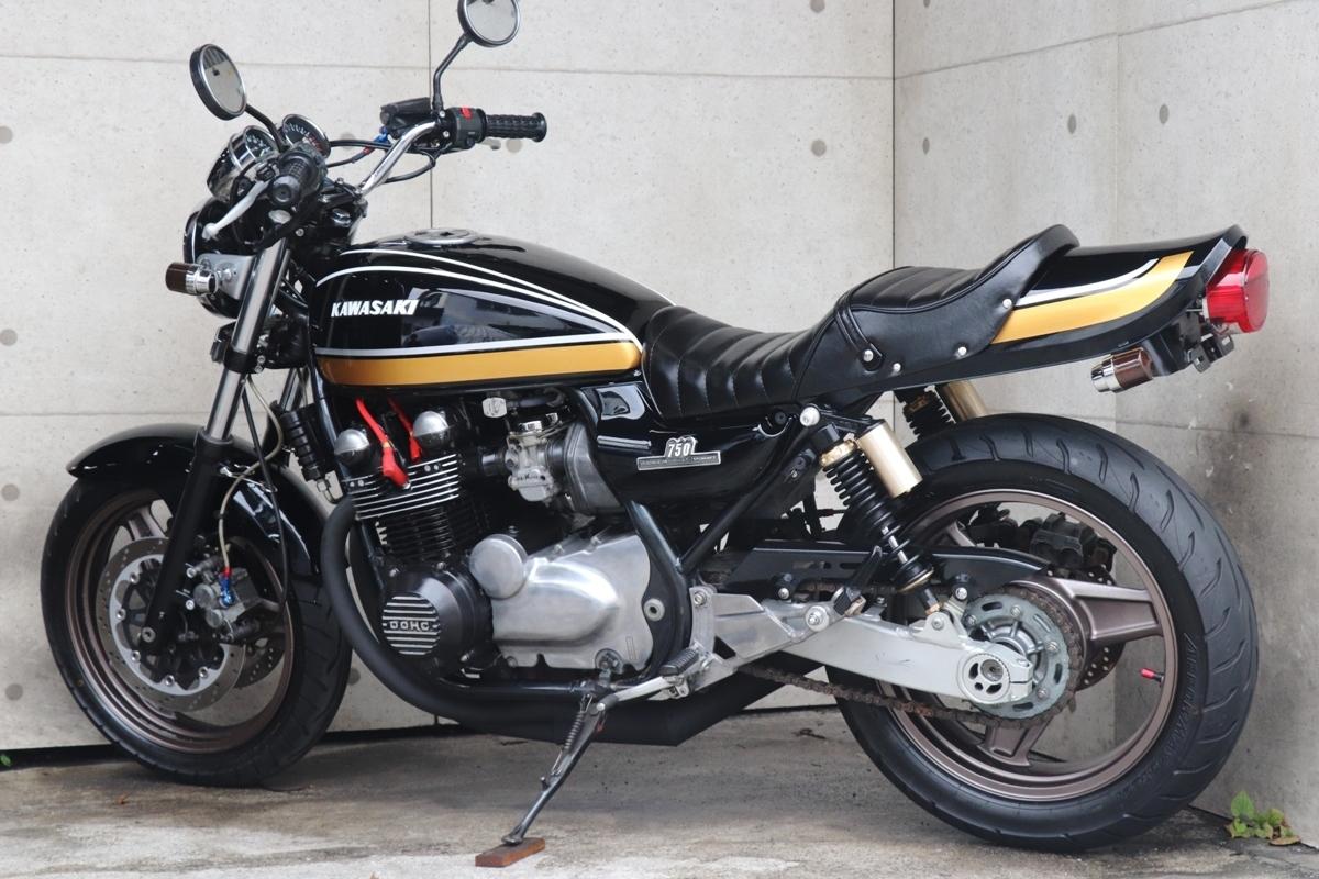 「横浜~ Kawasaki ゼファー750 平成3年式 初期型C1 Z2ブラックタイガー ドレミ外装 ニューペイント 好調」の画像2
