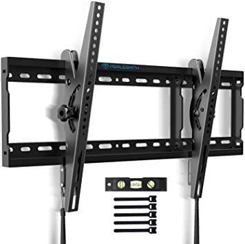 ブラック 37~70インチ 角度調節可能 PERLESMITH 左右移動式 テレビ壁掛け金具 耐荷重60kg 液晶テレビ対応 V_画像1