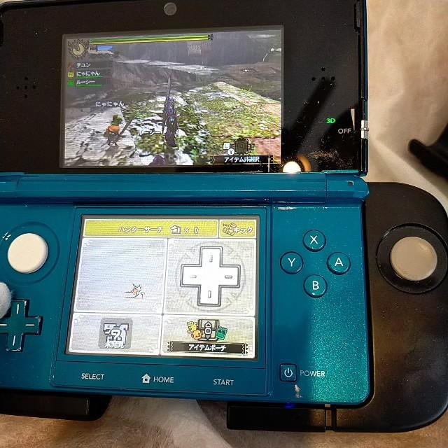 任天堂3DS本体 アクアブルーモンハンセット