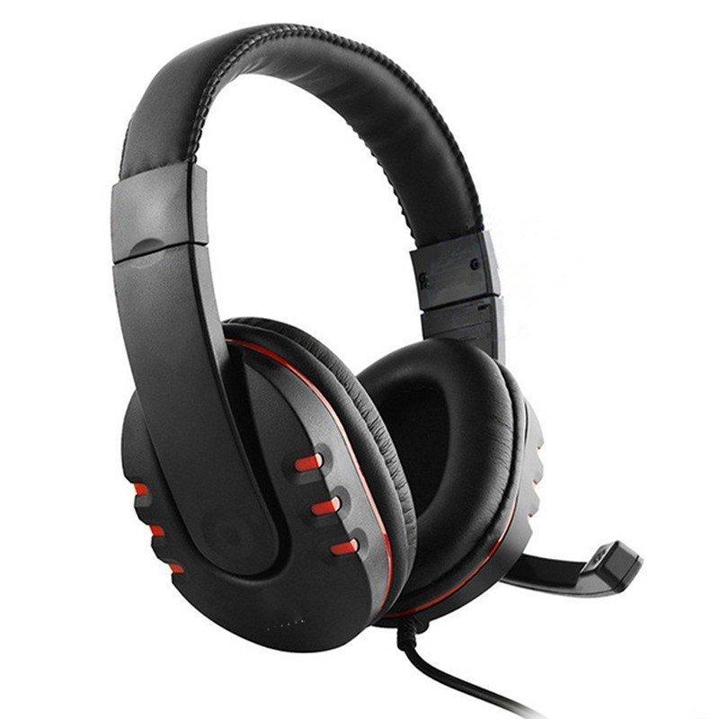 -ゲーミングヘッドセット 3.5mm ヘッドホン 密閉型 高音質 マイク付き 伸縮可能ヘッドアーム PS4 Xbox One iPhone スマホなどに対応_画像2