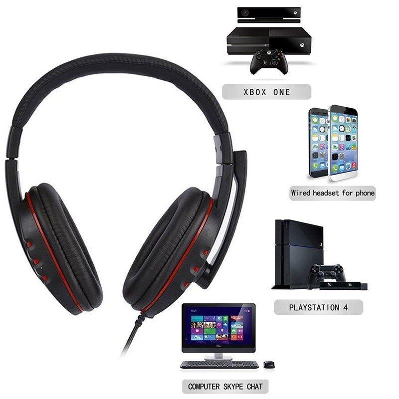 -ゲーミングヘッドセット 3.5mm ヘッドホン 密閉型 高音質 マイク付き 伸縮可能ヘッドアーム PS4 Xbox One iPhone スマホなどに対応_画像3