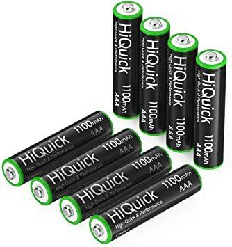 単4形 HiQuick 電池 単4 充電式 単4充電池 ニッケル水素電池1100mAh 8本入り ケース2個付き 約1200回使_画像8