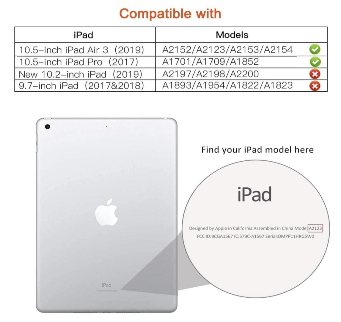 iPad Air 2019年型 10.5インチ ケース (黒) iPad Pro 2017年型 合革レザー 360回転 スタンドケース 耐衝撃 多角度 アイパッド保護カバー_画像9
