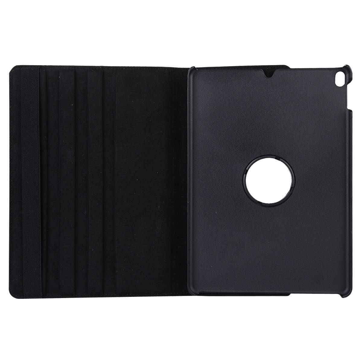 iPad Air 2019年型 10.5インチ ケース (黒) iPad Pro 2017年型 合革レザー 360回転 スタンドケース 耐衝撃 多角度 アイパッド保護カバー_画像4