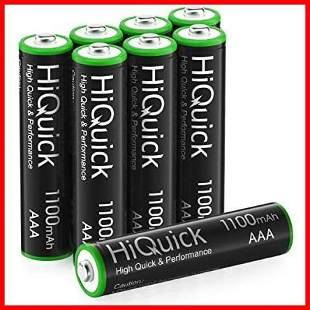 ★即決★ニッケル水素電池1100mAh 約1200回使用可能 単四充電池セット ケース2個付き HiQuick 単4充電池 IK-87 8本入り 単4電池 充電式 単4_画像1