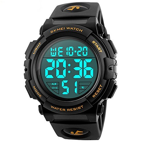 Timever(タイムエバー)デジタル腕時計 メンズ 防水腕時計 led watch スポーツウォッチ アラーム ストップウォッ_画像1