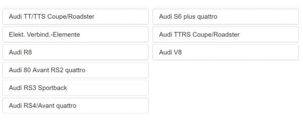 AUDI アウディ パーツリスト オンライン版 A1 A2 A3 A4 A5 A6 A7 A8 S3 S5 S6 Q3 Q5 Q7 R8 RS3 RS4 RS5 RS6 RS7 TT クワトロ 100 200 EPC_画像4